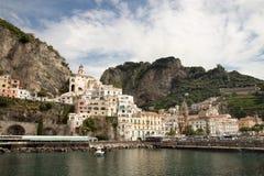 Bahía de Amalfi Italia Fotografía de archivo
