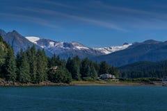 Bahía de Auke, Alaska foto de archivo libre de regalías