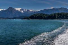 Bahía de Auke, Alaska foto de archivo