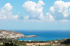 Bahía de Bali. Crete. Grecia imagenes de archivo