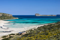 Bahía de Balos en Creta del oeste, Grecia Fotos de archivo libres de regalías