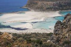 Bahía de Balos en la isla de Crete en Grecia Área de Gramvousa Fotografía de archivo