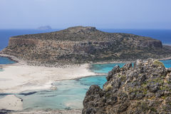 Bahía de Balos en la isla de Crete en Grecia Área de Gramvousa Fotografía de archivo libre de regalías