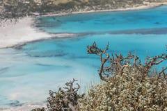 Bahía de Balos en la isla de Crete en Grecia Área de Gramvousa Fotos de archivo libres de regalías