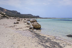 Bahía de Balos en la isla de Crete en Grecia Área de Gramvousa Imagenes de archivo
