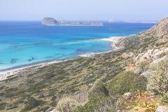 Bahía de Balos en la isla de Crete en Grecia Área de Gramvousa Imagen de archivo libre de regalías
