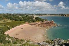 Bahía de Beauport en la costa sur del jersey Imágenes de archivo libres de regalías