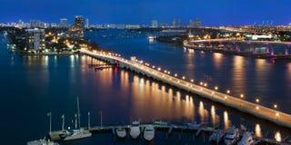 Bahía de Biscayne, Miami la Florida los E.E.U.U. Fotos de archivo libres de regalías