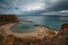 Bahía de Bolata, cerca del cabo Kaliakra, Bulgaria Fotografía de archivo
