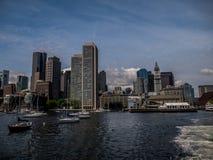 Bahía de Boston en invierno fotos de archivo