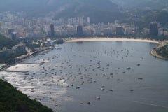 Bahía de Botafogo - Rio de Janeiro Fotos de archivo