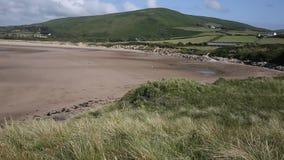 Bahía de Broughton de la colina de Llanmadoc Gower South Wales Reino Unido cerca de la playa de Rhossili almacen de metraje de vídeo