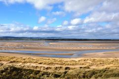 Bahía de Budle en Northumberland fotografía de archivo