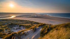 Bahía de Budle de las dunas fotos de archivo libres de regalías