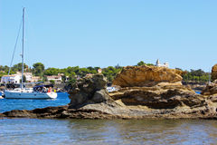 Bahía de Cadaques Foto de archivo libre de regalías