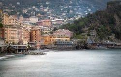 Bahía de Camogli Imagen del color Imagen de archivo libre de regalías