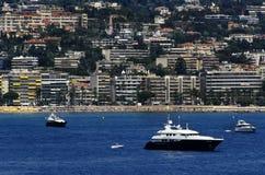 Bahía de Cannes en Francia imágenes de archivo libres de regalías