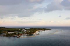 Bahía de caoba el Caribe Fotografía de archivo libre de regalías