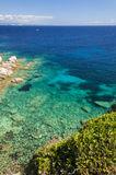 Bahía de Cerdeña del testa de la ceja Imagen de archivo libre de regalías