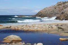 Bahía de Clabhach, isla de Coll imagen de archivo libre de regalías