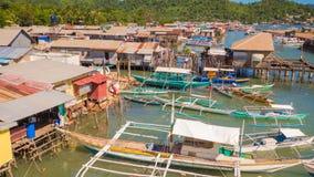 Bahía de Coron con y embarcadero Mar de Sulu PALAWAN filipinas Isla de Busuanga Fotografía de archivo