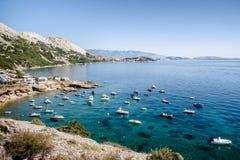 Bahía de Croacia Krk Foto de archivo libre de regalías