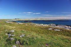 Bahía de Crossapol, isla de Coll imagenes de archivo