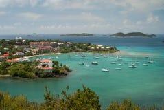 Bahía de Cruz - San Juan - isla de Virgen de los E.E.U.U. Imagen de archivo libre de regalías