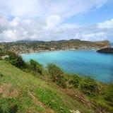 Bahía de Dennery - santo Lucía Imagen de archivo