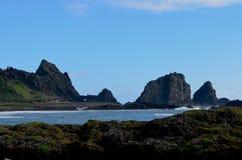 Bahía de Dongqin, en la costa del este de la isla de Lanyu/de orquídea Imágenes de archivo libres de regalías