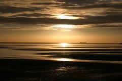 Bahía de Dublín en el amanecer Imagen de archivo libre de regalías