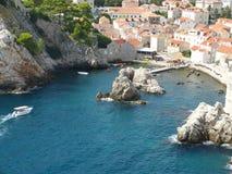 Bahía de Dubrovnik fotografía de archivo libre de regalías