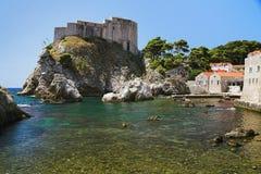 Bahía de Dubrovnik, Croatia Imágenes de archivo libres de regalías