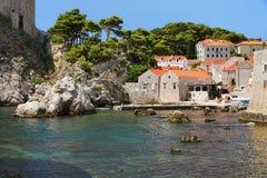 Bahía de Dubrovnik, Croatia Imagenes de archivo