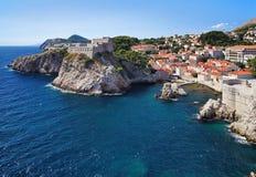 Bahía de Dubrovnik, Croatia Foto de archivo libre de regalías