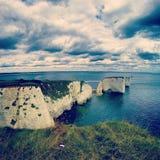 Bahía de Durlston - Swanage, Reino Unido imagen de archivo