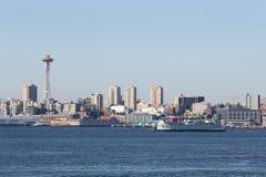 Bahía de Elliott, transbordador del estado de Washington, Seattle Foto de archivo libre de regalías