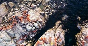 Bahía de fuegos en la bahía de Binalong, Tasmania almacen de metraje de vídeo