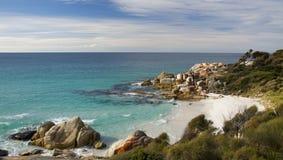 Bahía de fuegos, Tasmania Foto de archivo