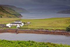 Bahía de Gesto, isla de Skye, Escocia Imágenes de archivo libres de regalías