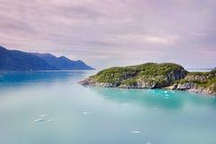 Bahía de glaciar Alaska Imagen de archivo