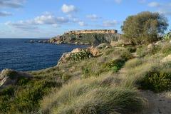 Bahía de Gnejna Fotos de archivo libres de regalías