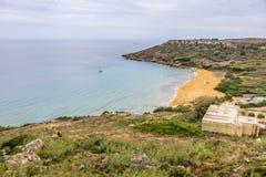 Bahía de Gozo Ramla Foto de archivo libre de regalías