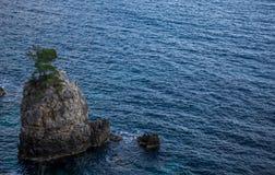 Bahía de Grotta del La en Corfú Grecia Fotos de archivo libres de regalías