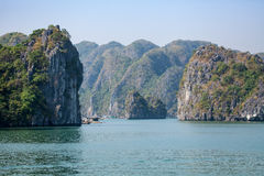Bahía de Halong en Vietnam Imagen de archivo