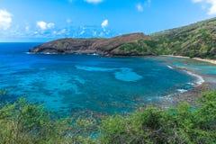 BAHÍA DE HANAUMA EN OAHU, HAWAII imagen de archivo