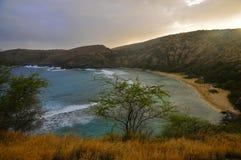 Bahía de Hanauma, Oahu foto de archivo