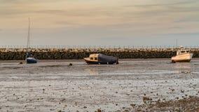 Bahía de Herne, Kent, Inglaterra, Reino Unido imagen de archivo libre de regalías