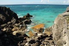 Bahía de herradura Bermudas Imagen de archivo libre de regalías