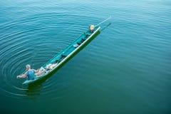 Bahía de Hout, el condado de Riverside - California, Tailandia, pescador Fotografía de archivo libre de regalías